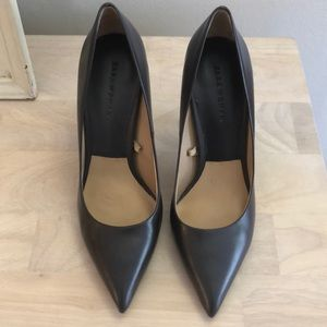 Charcoal Zara pointed toe pumps